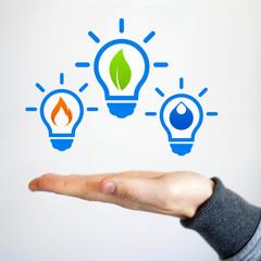 Innovative alternative clean energy idea bulb