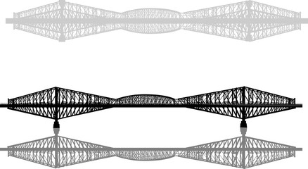 grey bridges isolated on white background