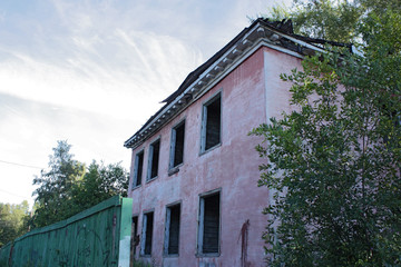 Old, dilapidated two-storey house for demolition