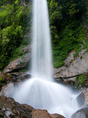 Beautiful waterfall the seven sisters in Sikkim, India