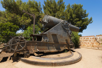 Old Cannon near Montjuic Castle - Barcelona