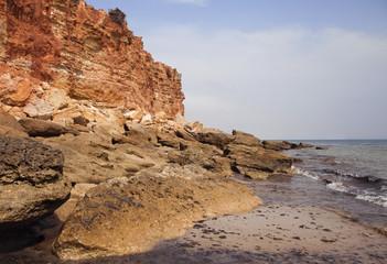 Sea coast in the ebb
