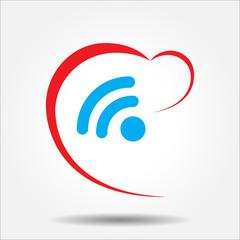 Beautiful Love Wireless Heart web icon