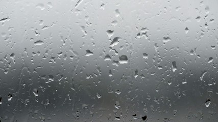 Rain drops on glass.