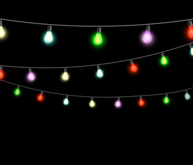 festive garlands of colored lights