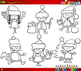 christmas themes children coloring page