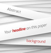 White paper rectangle banner on abstract 3d background with drop