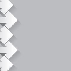 Flèches blanches à gauche sur fond gris