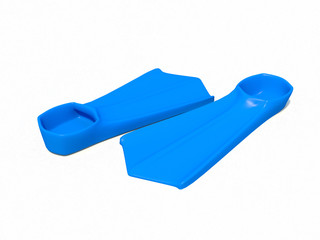 3d blue flippers