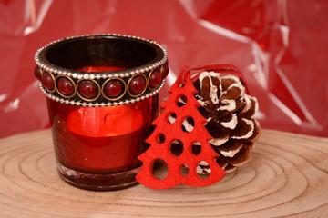Rode kerstdecoratie