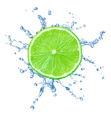lime fruit water splash drop food liquid