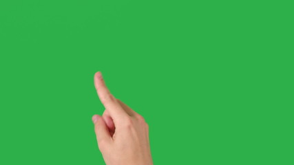 man hand flip pages on green screen