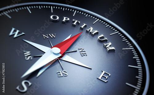 Leinwandbild Motiv Kompass - Optimum