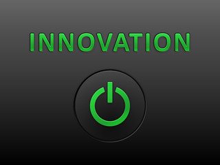 INNOVATION Glowing Text (creativity ideas business successful)