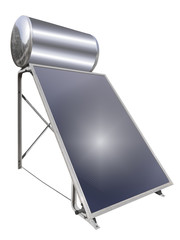 Solar water heater, isolated