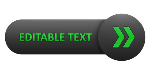 VECTOR BUTTON with EDITABLE TEXT (green arrows)