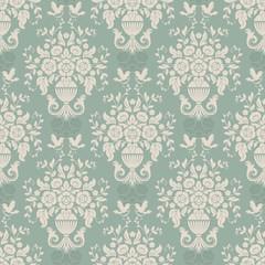 Blue baroque bright pattern