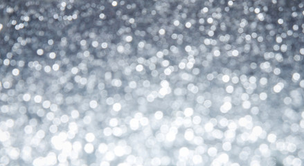 Silver abstract bokeh background - shiny and bright