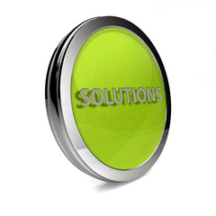 Solutions circular icon on white background