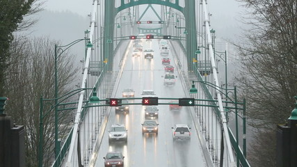 Rain Storm, Lions Gate Bridge