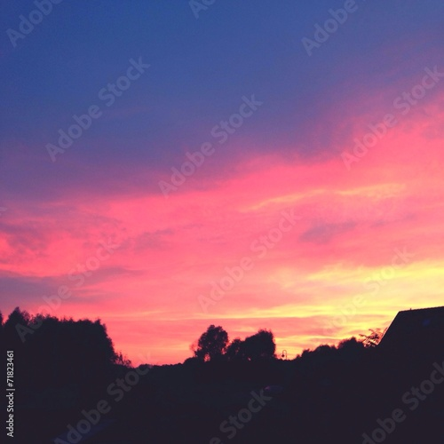 canvas print picture abendrot