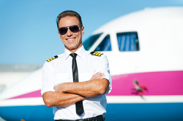 Confident pilot.
