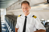 Feeling confident in his plane.
