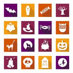 Flat Halloween Icons 2014