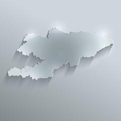 Kyrgyzstan map flag glass card paper 3D vector