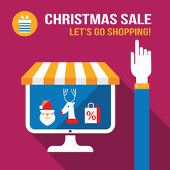 New Year Christmas sale.E-commerce.Online shopping