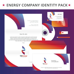 Abstract energy identity pack vector concept. Logo, vizit cards