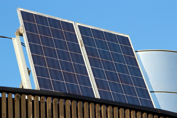 Solar panels on roof of some building