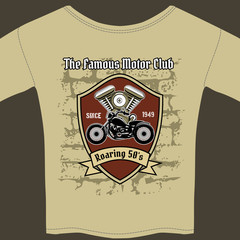 T-shirt design for a Motorcycle workshop