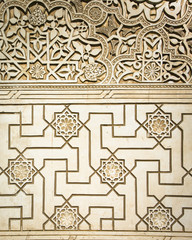 Geometry. Ancient arabic stone carving