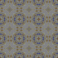 Abstract tileable seamless regular ornamental mosaic pattern
