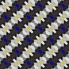 Abstract tileable seamless regular ornamental mosaic pattern