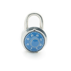 lock pad isolated on white