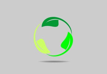 circle leaf ecology life vector logo