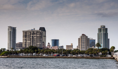 Waterfront buildings in St. Petersburg, Florida, USA