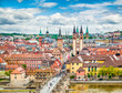 Leinwanddruck Bild - Historic city of Würzburg, Franconia, Bavaria, Germany