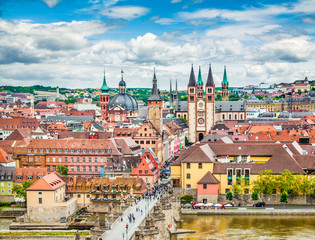Historic city of Würzburg, Franconia, Bavaria, Germany