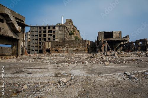 Foto op Plexiglas Japan 廃墟 - 軍艦島(端島)
