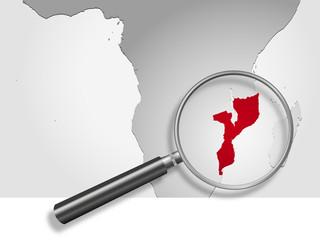 Landkarte *** Afrika Mosambik