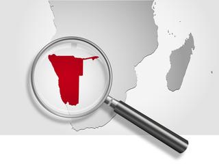 Landkarte *** Afrika Namibia
