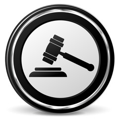 justice hammer icon