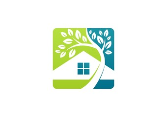 house,home,real estate,logo,resident villa resort,realty plant
