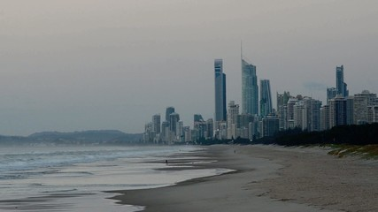 Surfers Paradise skyline Gold Coast Queensland Australia.