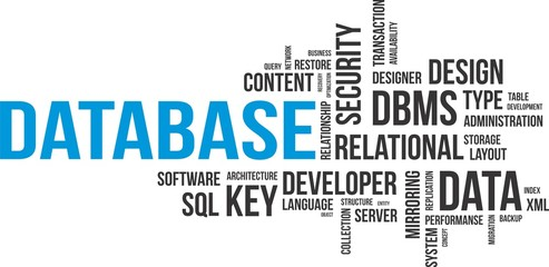 word cloud - database