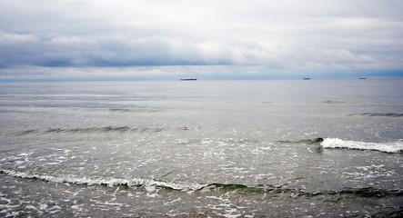 The Baltic Sea. The Baltic Spit, Kaliningrad region, Russia.