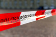 Leinwanddruck Bild - Polizeiabsperrung